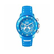 Ice-Watch - ICE aqua Malibu - Montre bleue pour homme avec bracelet en silicone - Chrono - 001461 (Medium)